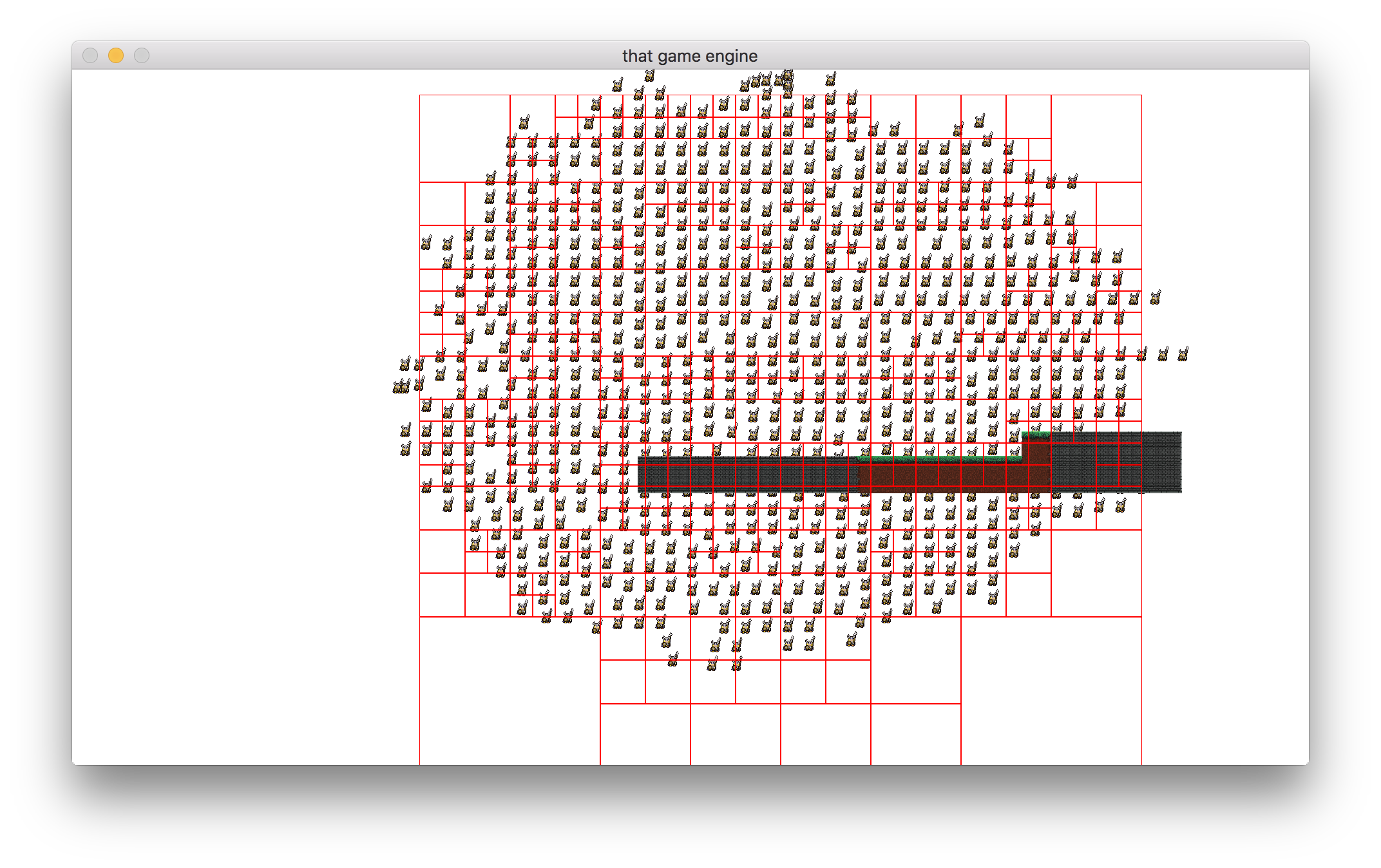 Quadtree with nodes drawn.