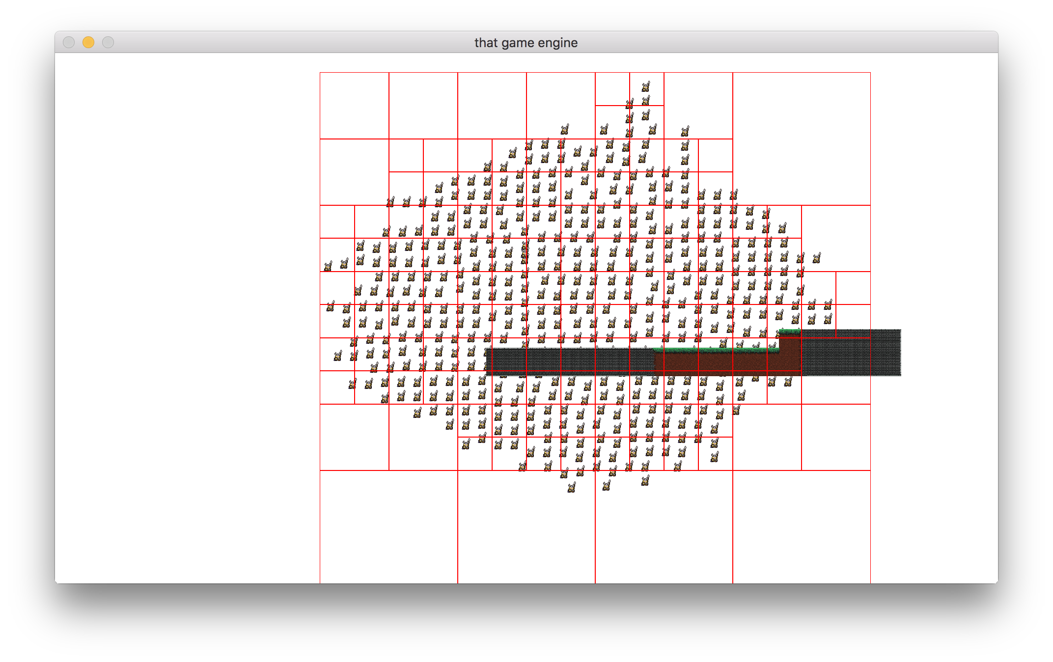 Example quadtree implementation with 200+ players.