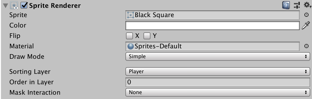 Spriterenderer with sortable layers in Unity