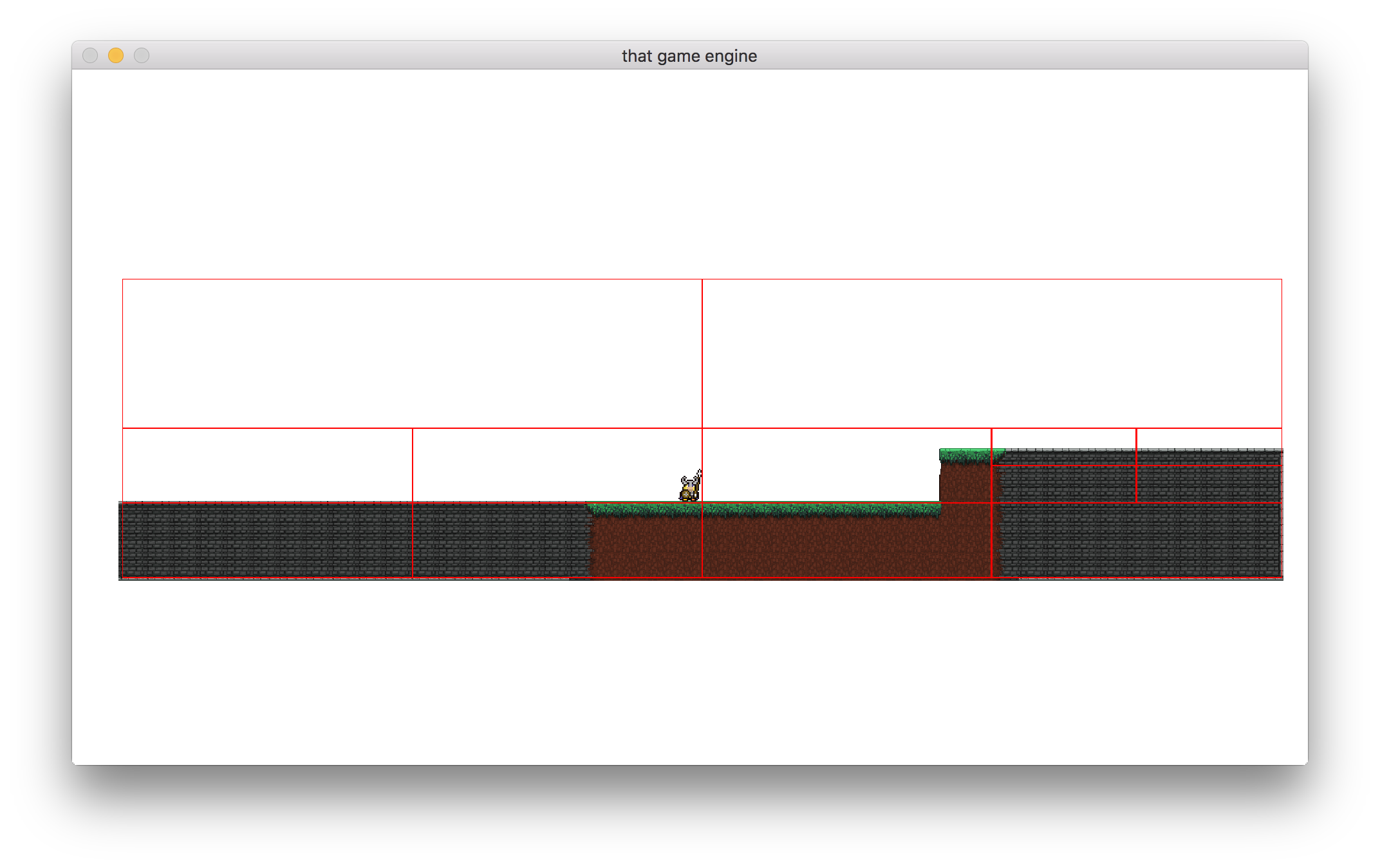 The quadtree bounds now encompass the whole level.